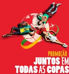 Promoção coca-cola juntos nas copas
