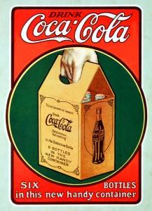 6 pack coca cola 1923