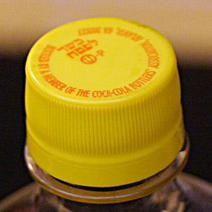 Tampa amarela coca-cola